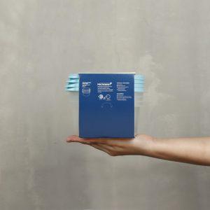 Super Lock กล่องใส่อาหาร Chef Box ทรงกลม 600 มล. แพ็ก 4 กล่อง 8 ชิ้น ปราศจากสารก่อมะเร็ง (BPA Free) รุ่น 6062