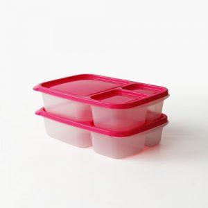 Super Lock กล่องใส่อาหาร Chef Box 650 มล. ช่องแบ่ง 3 ช่อง แพ็ก 2 กล่อง 4 ชิ้น เข้าไมโครเวฟได้ ปราศจากสารก่อมะเร็ง (BPA Free) รุ่น 6074