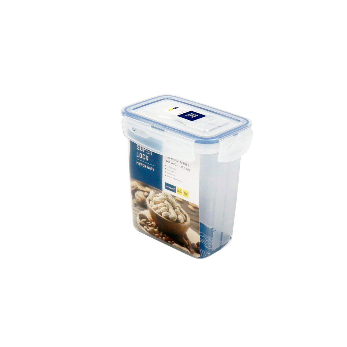 กล่องอาหาร Premium ความจุ 1250 มิลลิลิตร Super Lock #6854-2