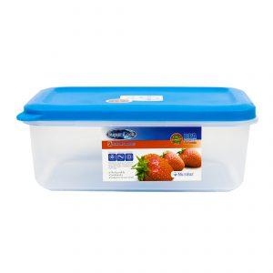 กล่องอาหาร Premium ความจุ 1000 มิลลิลิตร คละสี Super Lock #6855 PE