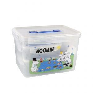 Super Lock กล่องถนอมอาหาร ลายลิขสิทธิ์แท้มูมิน Moomin 14 ชิ้น (6 กล่อง + 2 แก้ว) #6819-14 #3