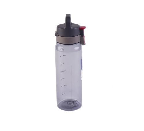 Super Lock ขวดน้ำพลาสติก ความจุ 830 มล. สีเทา ปราศจากสารก่อมะเร็ง (BPA Free) รุ่น 1713