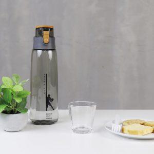 Super Lock กระบอกน้ำพลาสติก ความจุ 12,000 มล. มี 2 สี ปราศจากสารก่อมะเร็ง (BPA Free) สีเทา รุ่น 5242