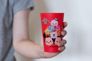 Super Lock แก้วน้ำ ลายลิขสิทธิ์แท้ Disney Tsum Tsum ปราศจากสารก่อมะเร็ง (BPA Free) สีแดง รุ่น 5213