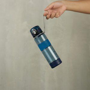 Super Lock ขวดน้ำพลาสติก ความจุ 600 มล. คละสี ปราศจากสารก่อมะเร็ง (BPA Free) สีฟ้า รุ่น 5240