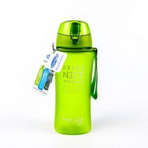 Super Lock กระบอกน้ำพลาสติก ความจุ 480 มล. ปราศจากสารก่อมะเร็ง (BPA Free) สีเขียว รุ่น 5276