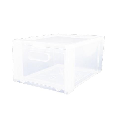 Super Lock กล่องรองเท้า พลาสติกแข็ง เปิดฝาหน้า รุ่น Super Box 5657