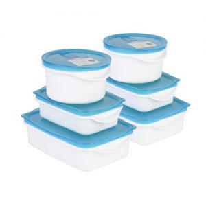Super Lock กล่องอาหาร รวม 12 ชิ้น (6 กล่อง) ปราศจากสารก่อมะเร็ง (BPA Free) รุ่น 6033-S12