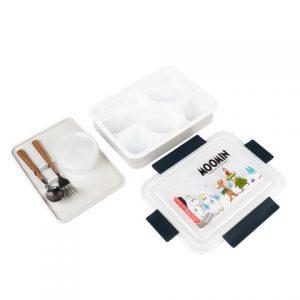 Super Lock กล่องถนอมอาหาร ลายลิขสิทธิ์แท้ Moomin มูมิน 5 ช่อง ป้องกันแบคทีเรีย BFA Free รุ่น 6165