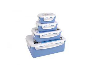 Super Lock กล่องอาหาร แพ็ก 4 กล่อง 8 ชิ้น ลายลิขสิทธิ์แท้ มูมิน ปราศจากสารก่อมะเร็ง (BPA Free) รุ่น 6116-S08