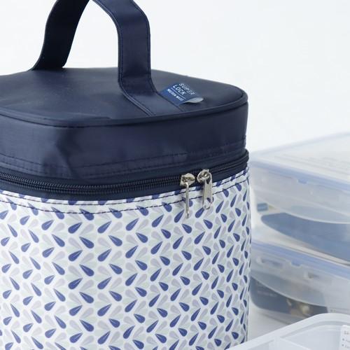 Super Lock กล่องใส่อาหาร พร้อมกระเป๋าเก็บความร้อน (คละลาย) เซท 6 ชิ้น รวมฝา (3 กล่อง) ปราศจากสารก่อมะเร็ง (BPA Free) รุ่น 5011-DDD