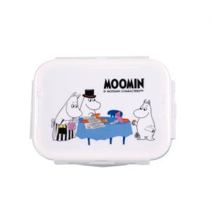 Super Lock กล่องถนอมอาหาร ลายลิขสิทธิ์แท้มูมิน Moomin เข้าไมโครเวฟได้ รวม 8 ชิ้น (4 กล่อง) รุ่น 6116-S08