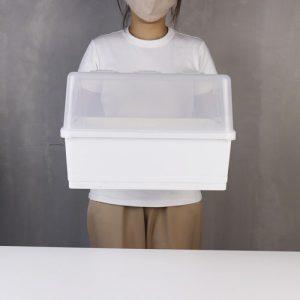 Micronware ที่คว่ำจาน มีฝาปิด ปราศจากสารก่อมะเร็ง (BPA Free) สีขาว รุ่น 5588