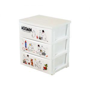 Micronware ลิ้นชักพลาสติก 3 ชั้น Drawer ลายลิขสิทธิ์แท้ Moomin มูมิน รุ่น 5803