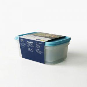 Super Lock กล่องใส่อาหาร Chef Box ทรงผืนผ้า 2000 มล. แพ็ก 2 กล่อง 4 ชิ้น ปราศจากสารก่อมะเร็ง (BPA Free) สีฟ้า รุ่น 6076