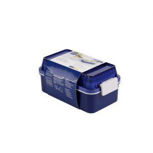 Micronware กล่องอาหาร 2 ชั้น ล็อค4ด้าน ความจุ 1300 มล. ปราศจากสารก่อมะเร็ง (BPA Free) รุ่น 6195