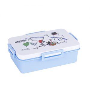 Super Lock กล่องถนอมอาหาร ลายลิขสิทธิ์แท้ มูมิน ความจุ 600+400 มล. ปราศจากสารก่อมะเร็ง (BPA Free) รุ่น 9197
