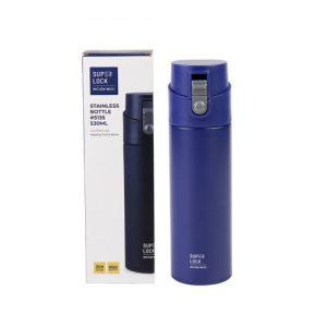 Super Lock สแตนเลส เก็บอุณหภูมิ ความจุ 530 มล. ปราศจากสารก่อมะเร็ง (BPA Free) สีน้ำเงิน รุ่น S135