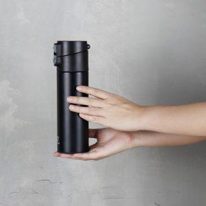 Super Lock สแตนเลส เก็บอุณหภูมิ ความจุ 530 มล. ปราศจากสารก่อมะเร็ง (BPA Free) สีดำ รุ่น S135